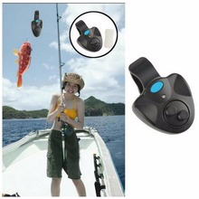 Rod Fish Finder Sound Alarm Alert Bell for Fishing LED Light Clip On Electronic  Fishing Alarm Electronic Fish Bite Black Alarm