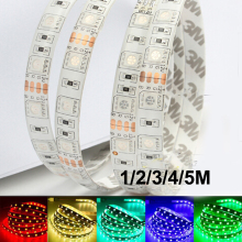 DC12V 1/2/3/4/5M Flexible 5050 LED Lighting Strip 60leds/m waterproof SMD Fita Ribbon 3M RGB Tape Car lamp Home Decor Car lamp