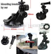 10PCS Mini Camcorder Car sucker holder mount Tripod Gopro HD Hero3 Hero 4 Gopro accessories SJ5000 SJ4000 accessories