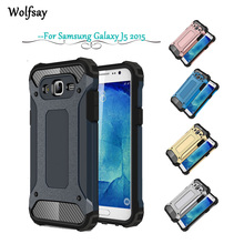 Wolfsay Case For Samsung Galaxy J5 2015 Cover Slim Armor Rubber PC Case For Samsung Galaxy J5 2015 case For Samsung J5 J500M *<