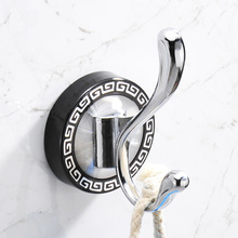 2PCS Modern Chrome Finish Single robe Hook Clothes Hook Bathroom Accessories Wall Mounted solid clothes coat hanging hook