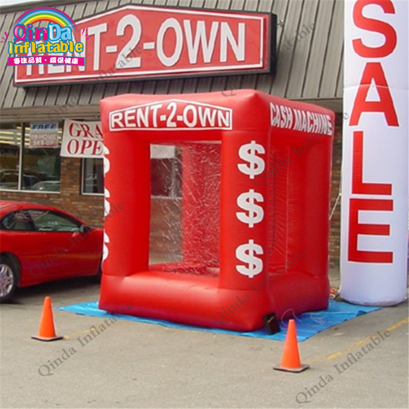 inflatable money catch grab machine booth30