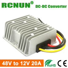 Waterproof DC DC Step Down Converter Reducer 48V to 12V 20A Buck Module Car Power Converter Regulator
