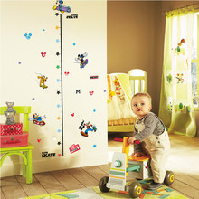 Cute Cartoon Kids Height Measure Wall Stickers for Boy Girl Room Growth Chart Home Decoration Accessories