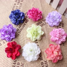 6CM/30Pieces Small Fabric Roses Artificial Silk Lotus Flower Heads,Floral Head Wreath,DIY Bouquet Arranging Decoration Material(China)