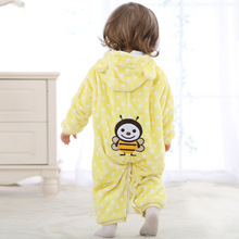 Brand Spring Autumn Baby Children Rompers pure cotton ha clothes Pack a bottom boys Girls Open file kids garments