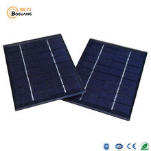 Boguang 2pcs 2W solar panel mini glass black solar power module PV DIY for motor toy battery toy LED light lamp pump outdoor(China)