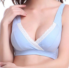 Woman's No rims 100% all cotton Bra Simple and comfortable cotton solid color wire free bra lingerie