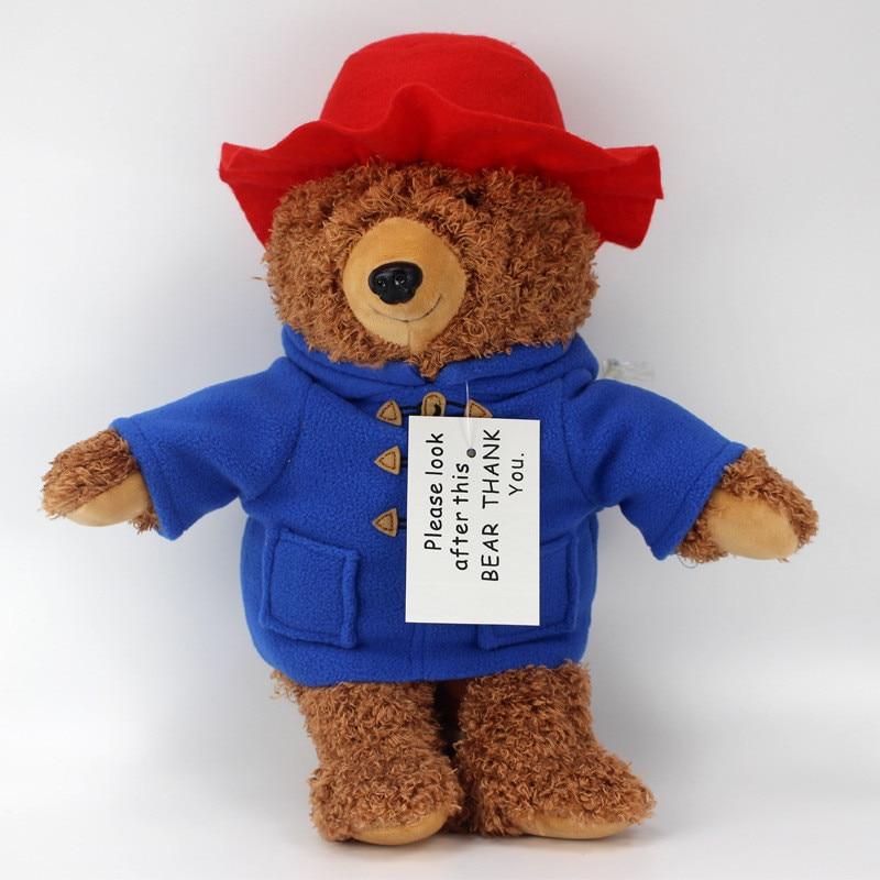 2018 New Cute Teddy Bear Plush Toys Movie Cartoon Bear with Red Hat Dolls Kids Friends Birthday Gift 35cm  (1)