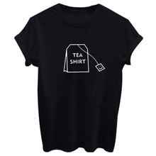 Buy 2018 Fashion Tea Shirt Letter Print Women Clothing Casual Graphic O-Neck Summer Short Shirts White Black Two Colors for $3.57 in AliExpress store