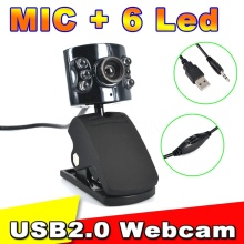 Kebidumei USB 30.0 Mega Pixel 6 LED Webcam Camera With Mic Web Cam for Desktop PC Laptop Notebook(China)