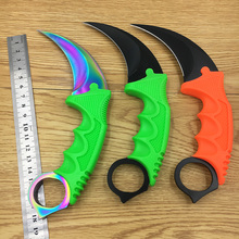 CS GO Counter Strike claw Karambit Knife sharpen Neck Knife with Sheath Tiger Tooth Real game Knife camping hunting knife fixed(China)