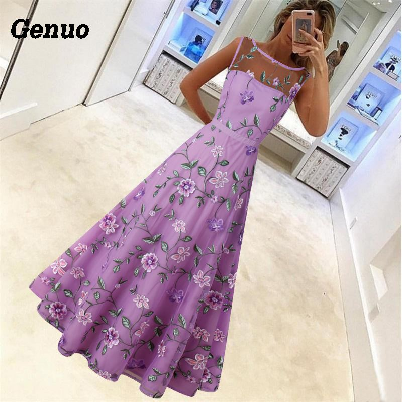 Flower Embroidery Maxi Dress 5