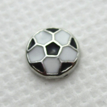 Hot selling football floating charms living glass memory floating lockets