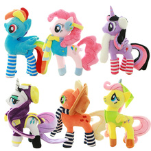 My New Year Edition Plush Twilight Sparkle Rainbow Dash Apple Jack Rarity Fluttershy Pinkie Pie Unicorn Horse Toys Doll(China)