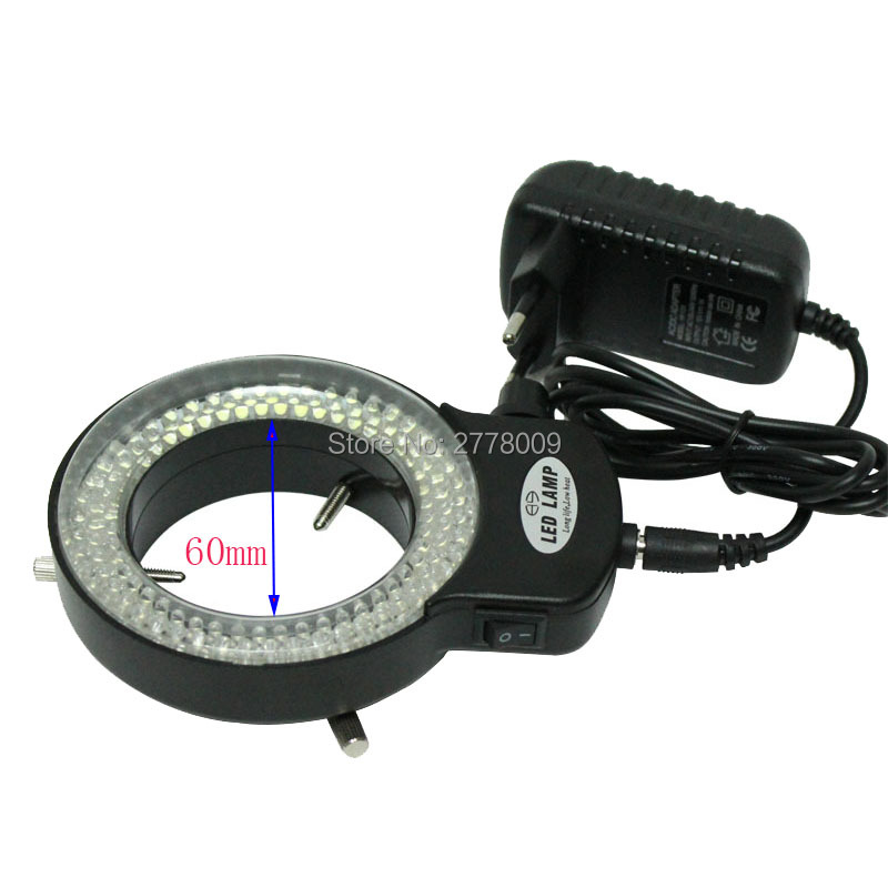 Adjustable 6500K 144 LED Ring Light illuminator Lamp For Industry Stereo Microscope Lens Camera Magnifier 110V-240V Adapter<br><br>Aliexpress
