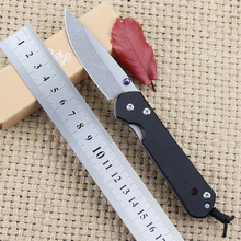 Hot! Pocket Survival Folding Knife 5CR15 blade G10 steel handle Outdoor Camping Hunting Tactical Knives EDC tool best gift knife(China)
