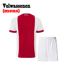 2017 Ajax Men Kits 2018 Best Quality A Home T Shirt 17 18 Ajax Casual Mens Tops Jersey White And Red T-Shirts(China)
