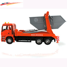 MAN Garbage Truck Rear Loading Orange - Great For Use Indoors And Outdoors Collection Model Toy(China)