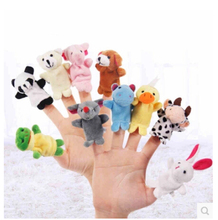 10 pcs =1lot Cartoon Biological Animal Finger Puppet Plush Toys Child Baby Favor Dolls For Children(China)