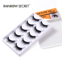 5 Pairs Lot Black Natural Thick False Eyelash Soft Long Handmade Makeup Fake Eye Lashes Extension