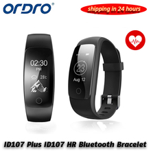 GPS Smart Band ID107 Plus HR Fitness Bluetooth Bracelet Activity Sports Tracker Wristband with Heart Rate Tracker & xiaomi