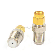 2 Pieces SMA Plug Male Goldplated to F Jack Female RF Connector  F Female SMA Male Adapters