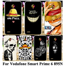DIY Hard Plastic Mobile Phone Case For Vodafone Smart Prime 6 VF-895N 5'' 895N Cover Skull Head Naruto Case Housing Skin