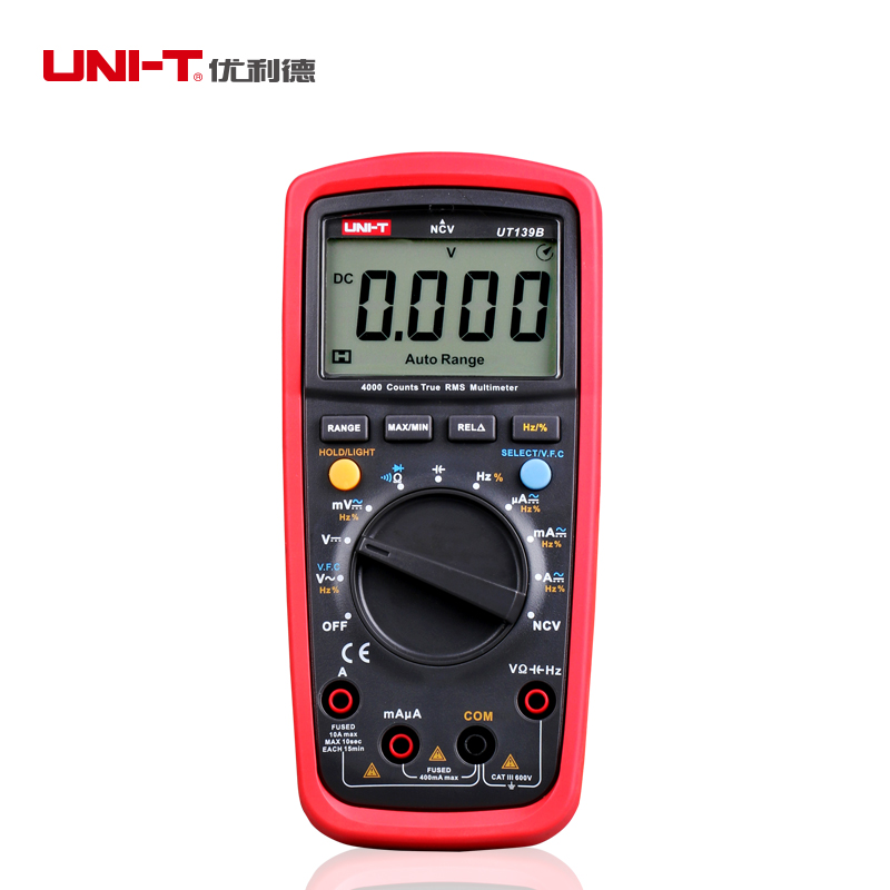 UNI-T UT139B True RMS NCV 4000 Counts DMM Digital Multimeters w/ Capacitance &amp; Frequency Test Multimetro LCR Meter<br>