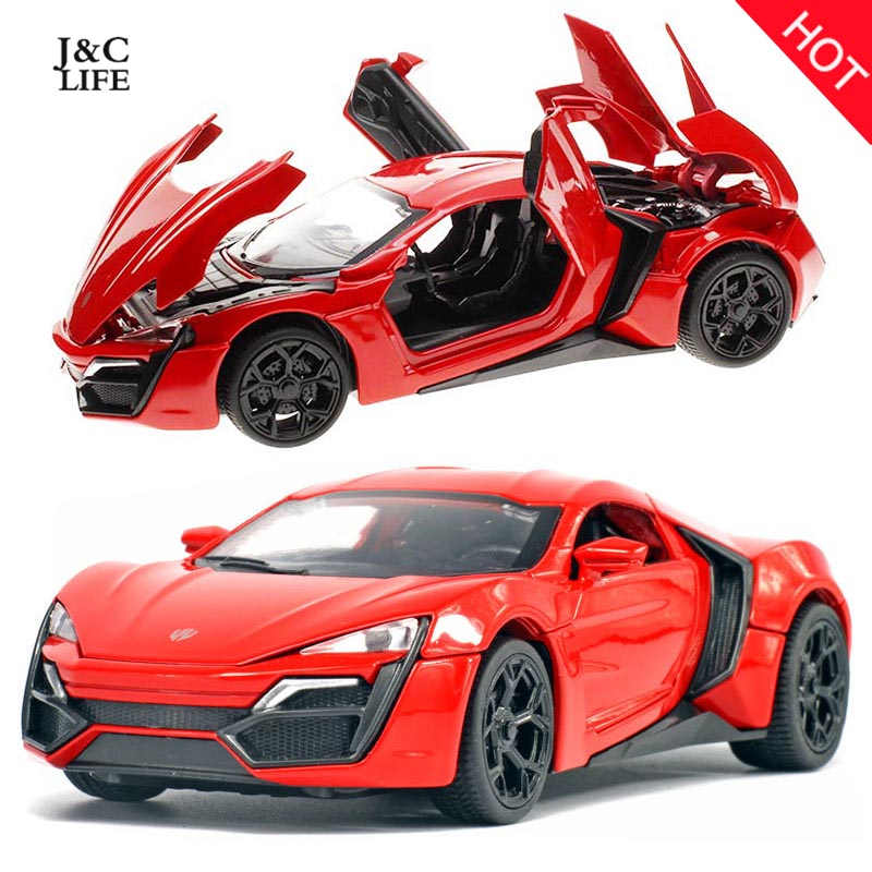 Hot 1:32 Fast & Furious Lykan Alloy Diecast Car Model Pull Back Toy Car Metal Toy Miniatures Car Kid Toys for Children Toy Gift(China (Mainland))