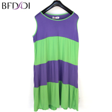 BFDADI Summer Women Sleepwears o-Neck Sleeveless Nightgowns Loose Sleep Dress Casual Nightwear Fashion 3 Color Large Size XL-4XL(China)