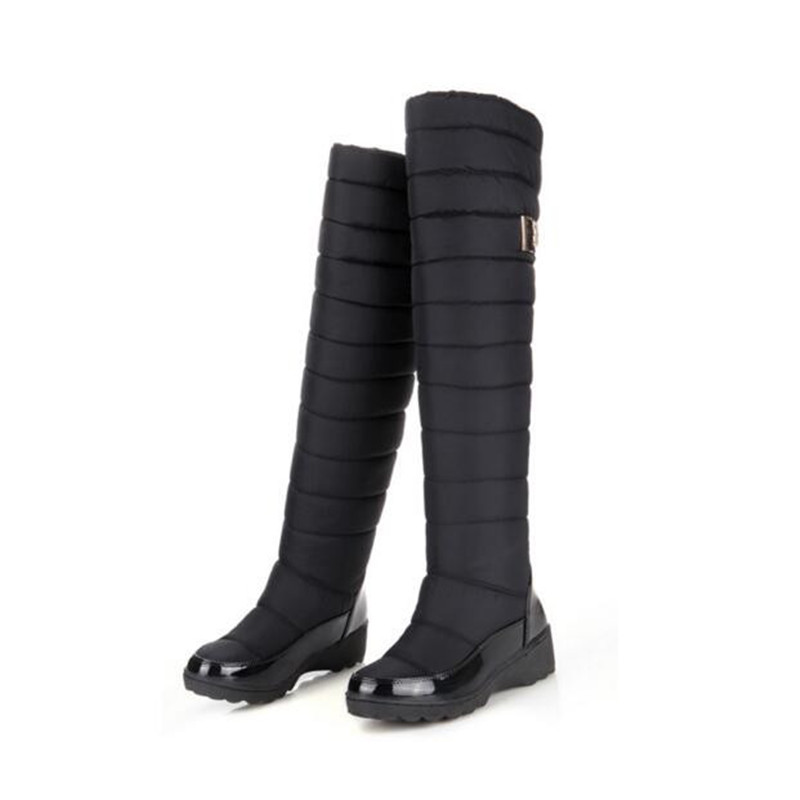 new arrival keep warm snow boots fashion platform fur thigh knee high boots warm winter boots for women shoes boats<br>