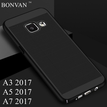 Buy Heat Dissipation Back Cover Samsung Galaxy A3 A5 A7 2017 Case Hard PC Breathable Phone Case Samsung A320 A520 A720 Coque for $3.99 in AliExpress store