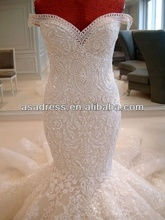 Luxury Sweetheart Neck Pearl Embroidery sexy wedding dress patterns free Wedding Dresses 2016
