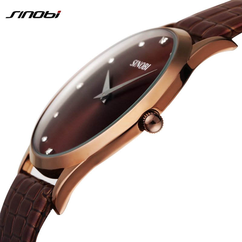 SINOBI Mens Business Quartz Watches Brand Leather Analog wristwatch Male Round rhinestone Wristwatch simple casual clock hours<br><br>Aliexpress