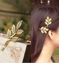 Hot New Fashion Wedding Hair Accessories Gold Textured Olive Leaf Beautiful Bride Jewelry Hair Clip Hair Pin Hair wear(China)