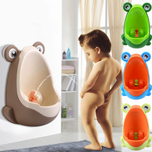 Frog Boys Potty Urinal Toilet With Suction Cups Urinoir Enfant Wall-Mounted Training Pinico Kids Pee Urinal For Children Toilet