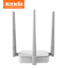 Tenda N318 300Mbps Wireless WiFi Router Wi-Fi Repeater,Multi Language Firmware,Router/WISP/Repeater/AP Mode,1WAN+3LAN RJ45 Ports(China)