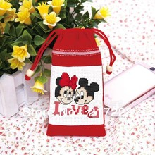 Cross Stitch MP3 MP4 Cellphone Bag Mickey and Minnie CS-002MON