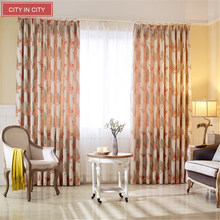 CITYINCITY Jacquard Curtain Floral Faux Linen Rideaux For Livingroom  Pastoral Curtians for Bedroom  Window Drape Customized
