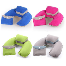 Inflatable Travel Pillow Neck Head Support PVC Portable U Shape Neck Pillow Cushion Sleep Pillow For Airplane Home Office Car