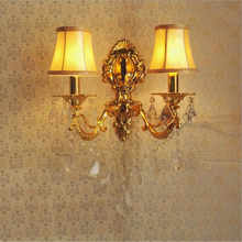 Zinc Alloy Candle Crystal Warm White Wall Lamp Bedroom Bedside Room Corridor Hotel Home Wall Sconce LED lamp 220V Led Wall Light(China)