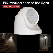 Newest Wireless PIR motion sensor Led light Base Adjustable sensor light ET125