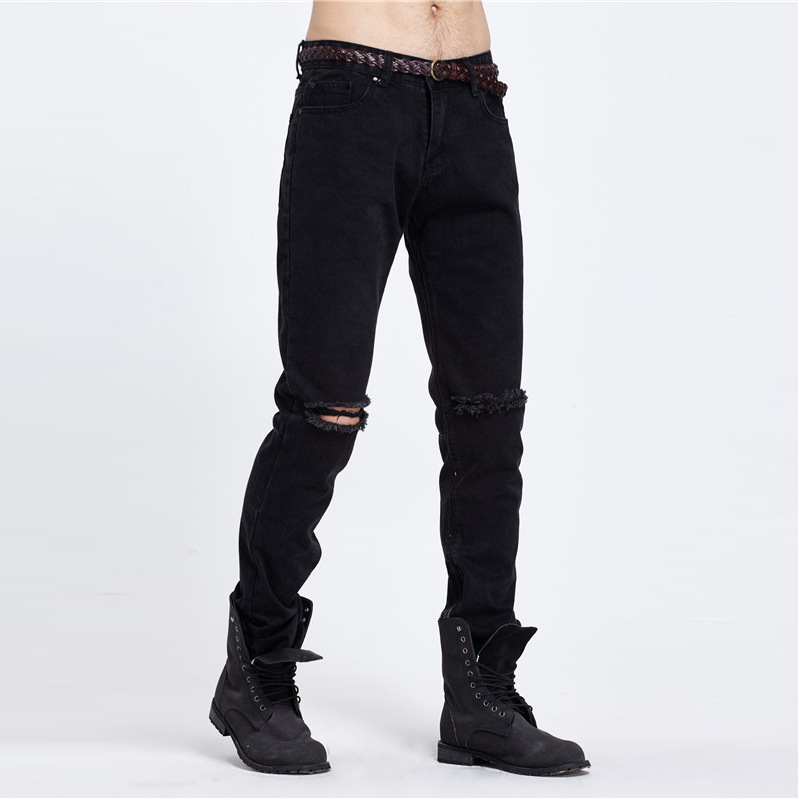 Summer Motor Jeans Men Fear of God Biker Jeans Cotton Trousers Mens Hip Hop Robin Ripped Jeans Mans Leisure Slim Fitness PantsОдежда и ак�е��уары<br><br><br>Aliexpress