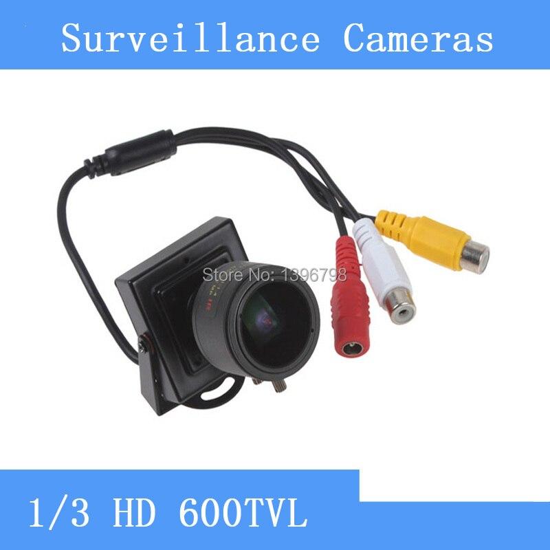High Performance 1/3 600TVL F1.4 CMOS CCTV Mini Camera 2.8-12mm Varifocal Lens Surveillance Camera CCTV<br>