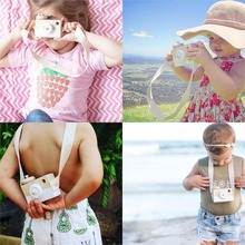 Cute Wooden Toy Camera Baby Kids Creative Neck Hanging Camera Photography Prop Decoration Children Playing House Decor Toy Gift(China)