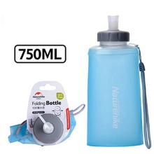 Simple Design 500ml / 750ml Portable Silicone Folding Soft Water Bottle Outdoor Sport Hiking Camping Running Gym Kettle