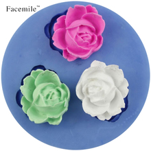 3D Rose Flower Fondant Silicone Mold Gigt Decorating Candy Craft Tool Soap candy chcoclate DIY Molds Cutter Modelling Tools