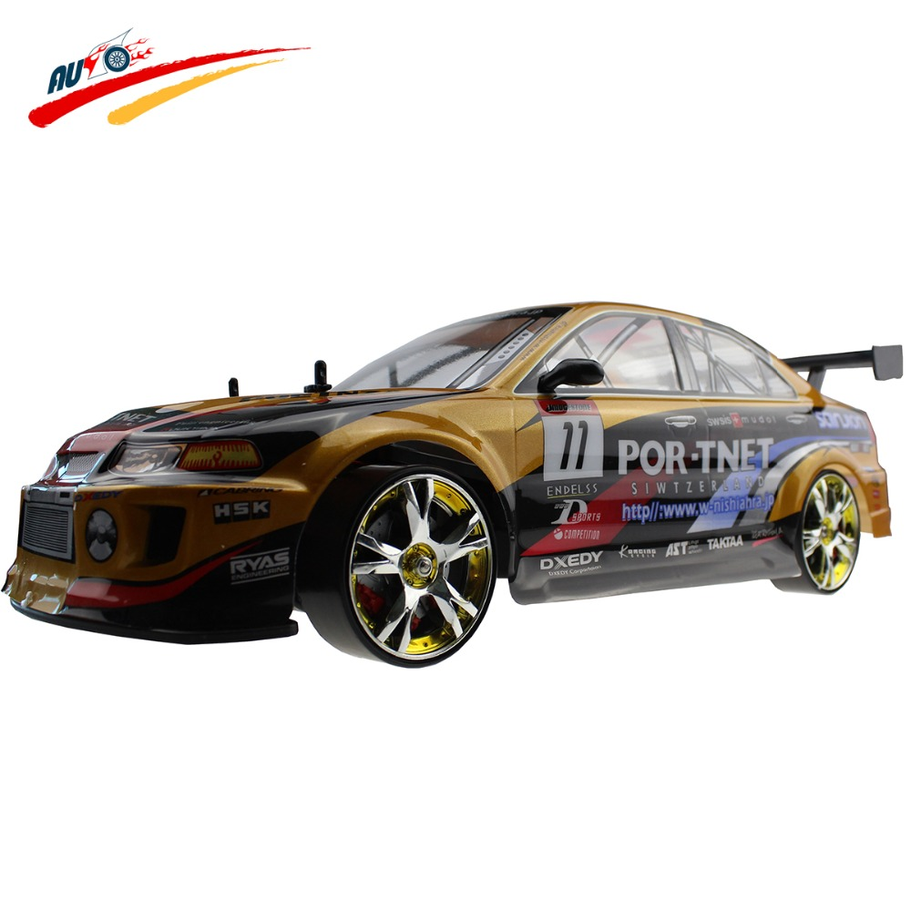 Large RC Car 1:10 High Speed Racing Car For Mitsubishi Championship 2.4G 4WD Radio Control Sport Drift Racing electronic toy(China (Mainland))