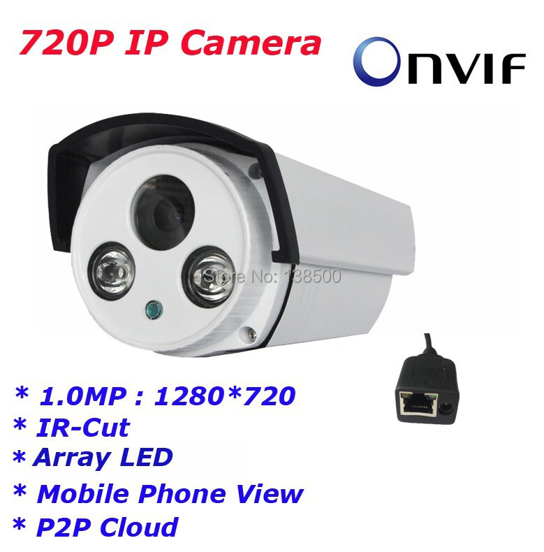 Free Shipping Hot Selling HD 720P Securiy HD Network CCTV Camera 1.0MP 2ARRAY Network Bullet Waterproof IP Camera ONVIF<br><br>Aliexpress